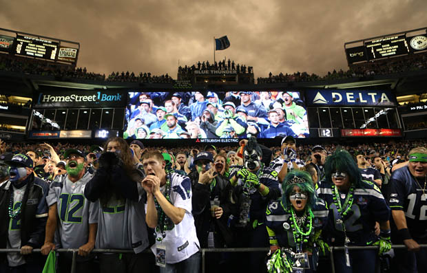 Seahawk fans create earthquake