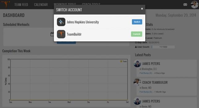 teambuildr account toggling