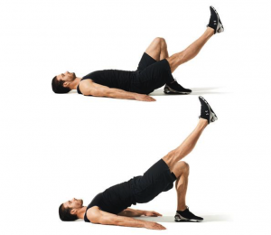 single leg glute bridge weight lifting rest between sets